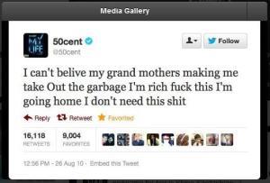 50 Cent Priceless Tweet