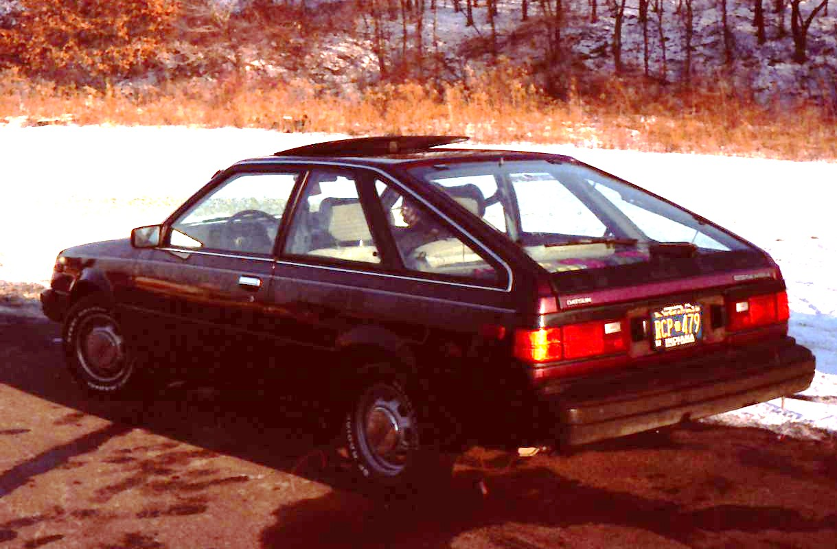 1984 DatsunNissan Sentra or was it an 83  Old Road Apples