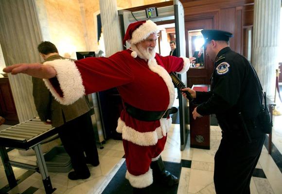 checkpoint Santa