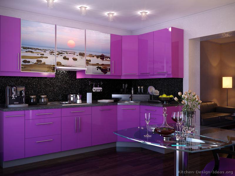 kitchen cabinets modern purple 003 s30411250x2 photo print - Violet Kitchen 2015