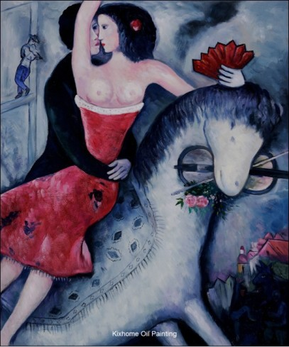 The-Equestrian-by-Marc-Chagall-abstract-oil-painting-reproductions-apply-for-bedroom-handpainted-high-grade-Landscape