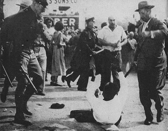 Peekskill--Eugene Bullard attacked